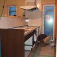 キッチンの施工状況