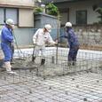 耐圧版のコンクリート打ち