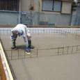 耐圧版のコンクリート打ち 2