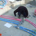 給排水の先行配管