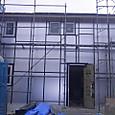 外壁の外張り断熱施工