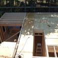 2階の床根太及び合板敷き