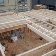 2階床根太の敷きこみ