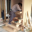 階段の施工状況