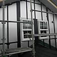 樹脂材による通気施工