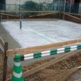 防湿シート、外周基礎の捨てコンクリート