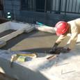 ウッドデッキ基礎とポーチ部のコンクリート打設