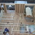 1階の壁建て 2