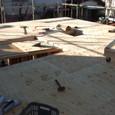 2階床合板敷き