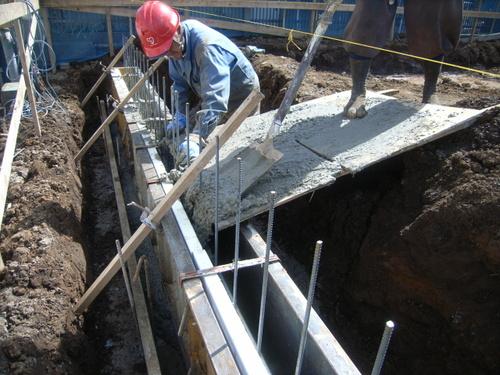 深基礎部 コンクリート打設
