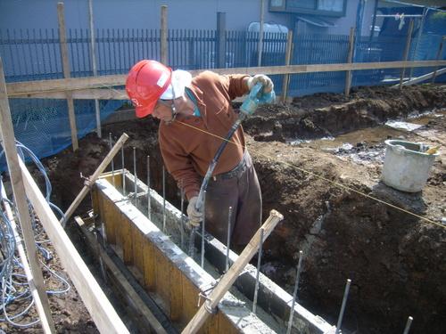 深基礎部 コンクリート打設 その2
