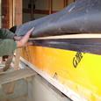断熱材と防水テープ